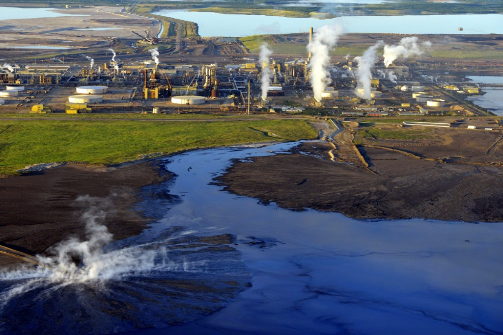The Athabasca oil sands in northeastern Alberta, Canada, are a major producer of heavy crude oil. Credit: Michael Collier