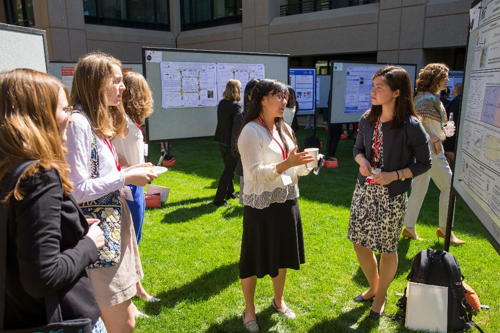 Photo: Women in Clean Energy Symposium poster session. Credit: Casey Valentine