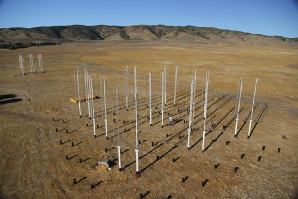 Photo: Vertical wind-farm test site in California. Courtesy: John Dabiri, Stanford