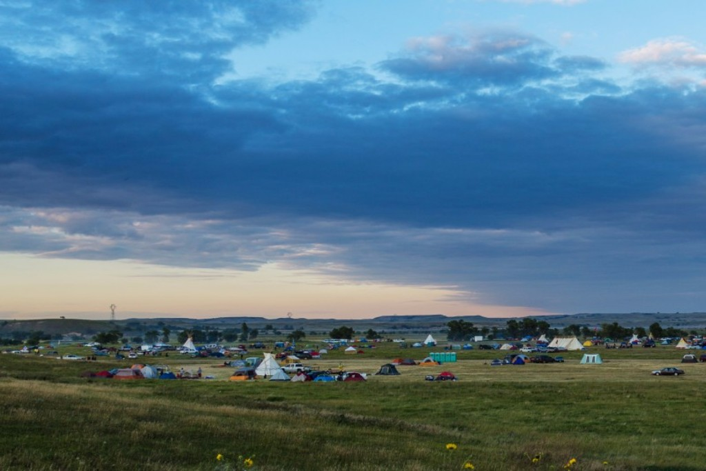 Dakota Access pipeline protest at the Sacred Stone camp near Cannon Ball, North Dakota. Credit: Tony Webster/Flickr CC 2.0