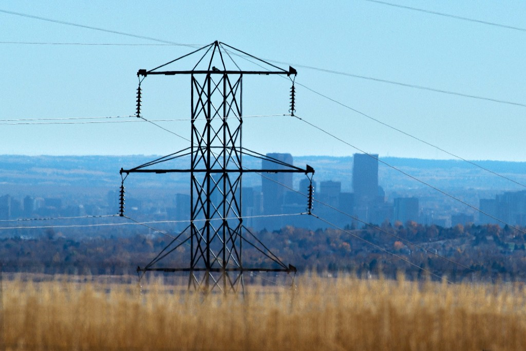 Power lines near Denver. Credit: Dennis Schroeder/NREL