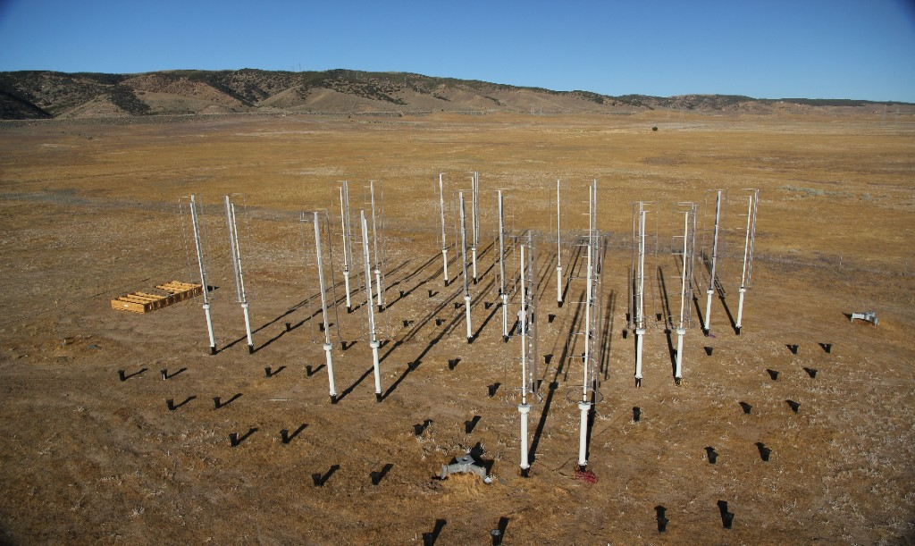 Photo: Professor John Dabiri stands in the middle of his California wind-turbine test site. Courtesy: John Dabiri