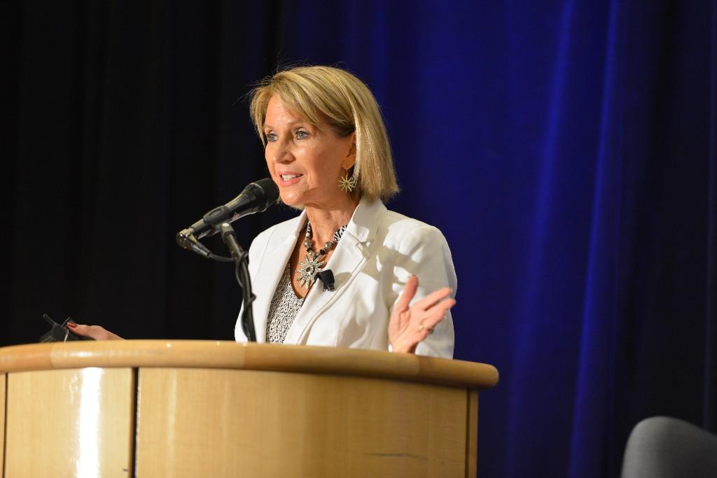 Photo: Marsha McNutt, editor-in-chief, Science magazine. Credit: Mark Shwartz, Stanford
