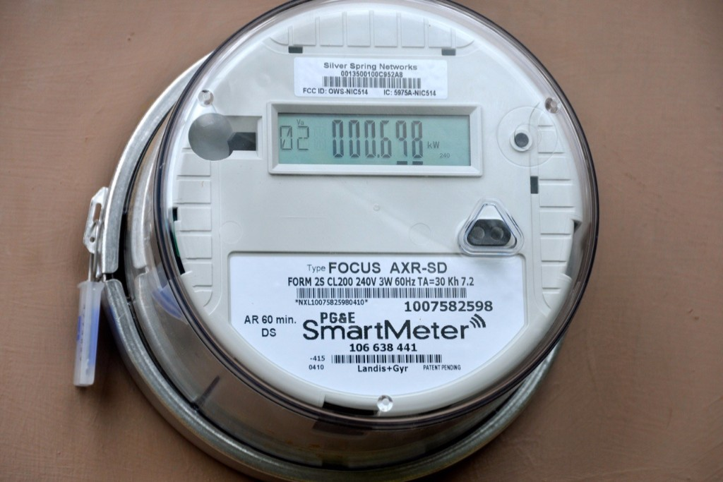 Photo: This smart meter allows utilities to monitor customers' energy consumption remotely throughout the day. Courtesy: PG&E/TomKat Center