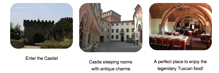 Pictures of the 1000-year old castle Valenzano in Tuscany