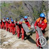 Concrete Canvas Ditch Installation - Chile