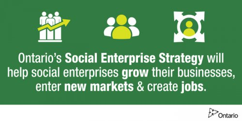Ontario's Social Enterprise Strategy will help social enterprises grow their businesses, enter new markets & create jobs