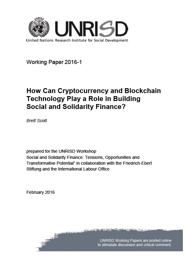 How Can Cryptocurrency and Blockchain Technology Play a Role in Building Social and Solidarity Finance?