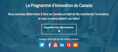 Le Programme d'innovation du Canada