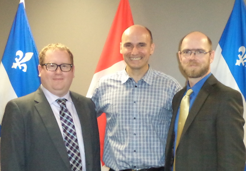Ryan Gibson, l'honorable Jean-Yves Duclos, Michael Toye