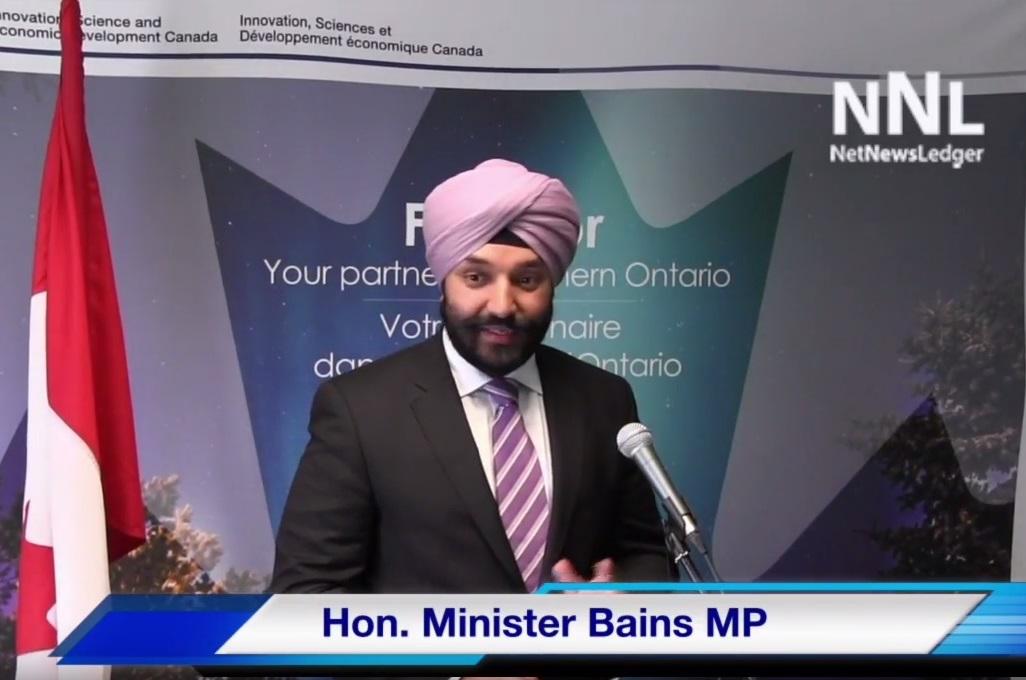 Hon. Minister Bains MP