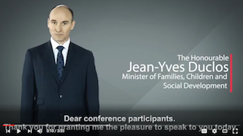 The Honourable Jean-Yves Duclos - address to ECONOUS2016 participants
