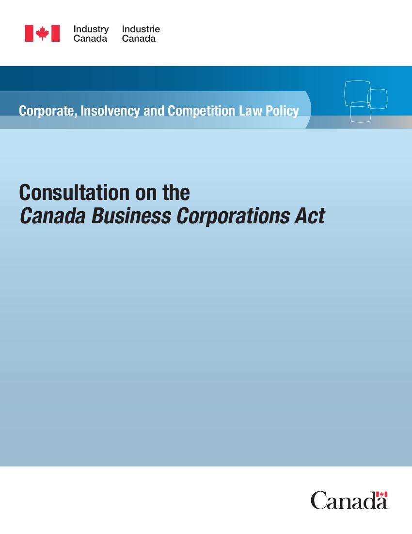 CBCA Consultation