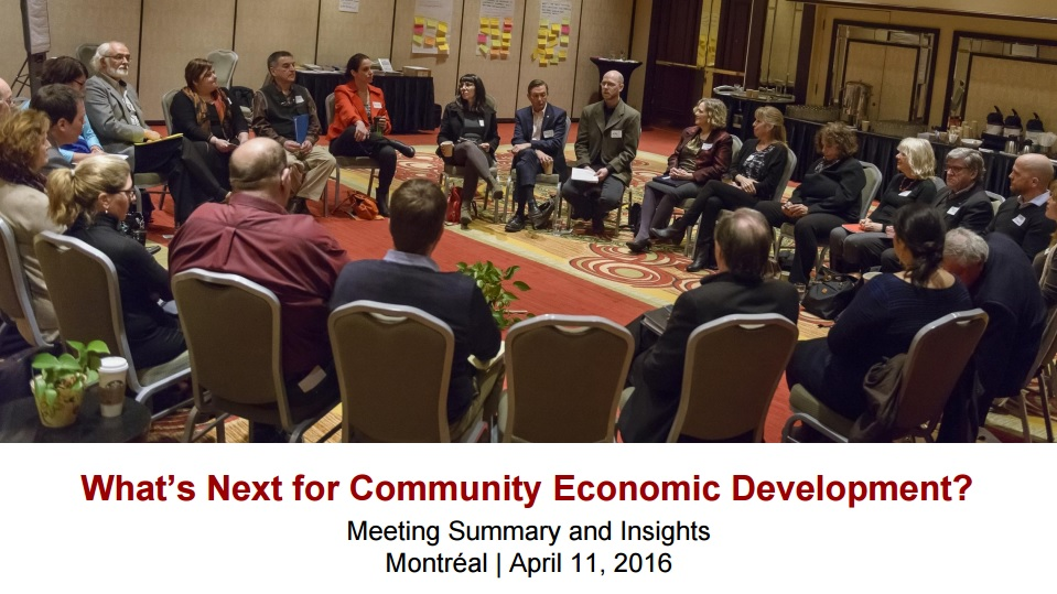 What's Next for Community Economic Development?