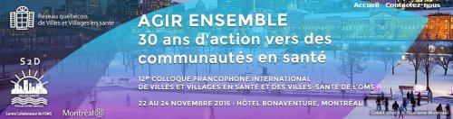 Colloque francophone international Villes et villages en santé