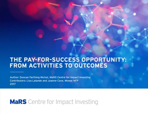 The Pay-for-Success Opportunity