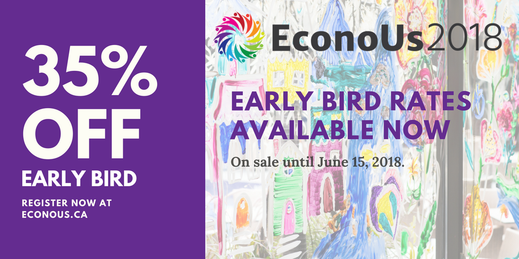 35% off: Early bird rates for EconoUs2018 available until June 15