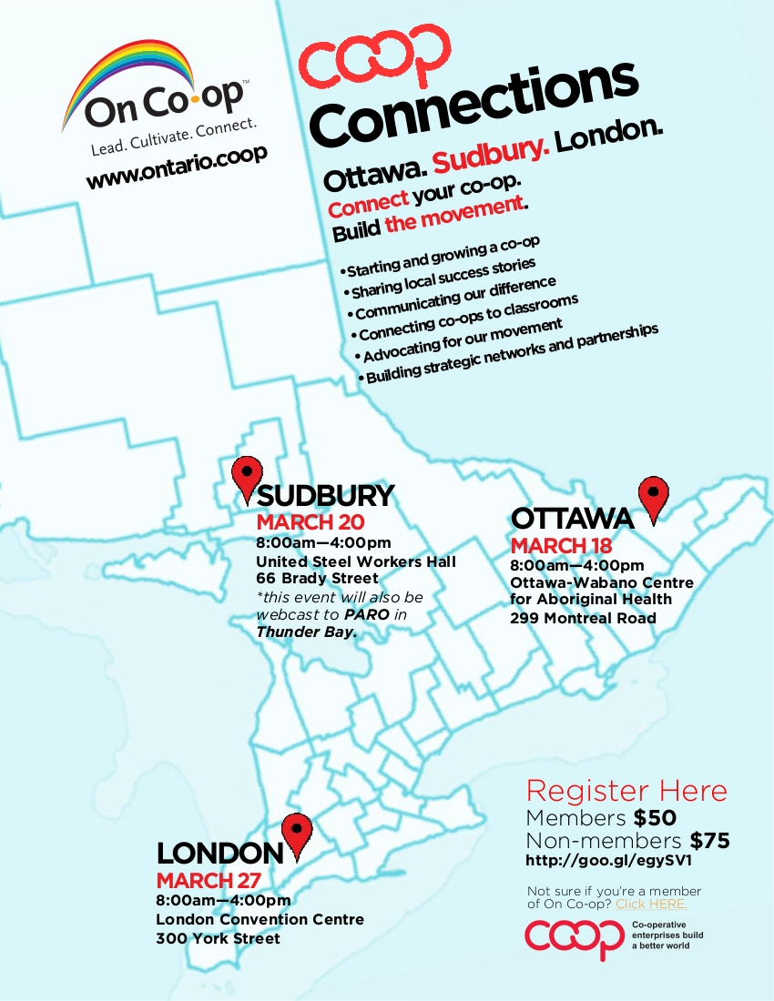 Co-op Connections: Ottawa, Sudbury, London