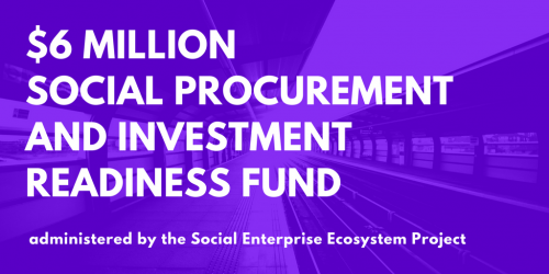 $6 Million Social Procurement and Investment Readiness Fund