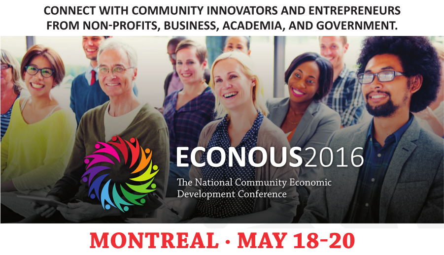 Connect with community innovators and entrepreneurs at ECONOUS2016