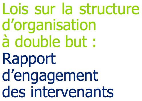 Lois sur la structure d'organisation à double but