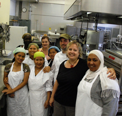 Diversity Foods staff in their kitchen