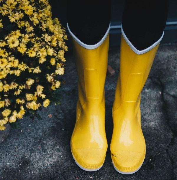 Rain Boots by  Kristina Paukshtite