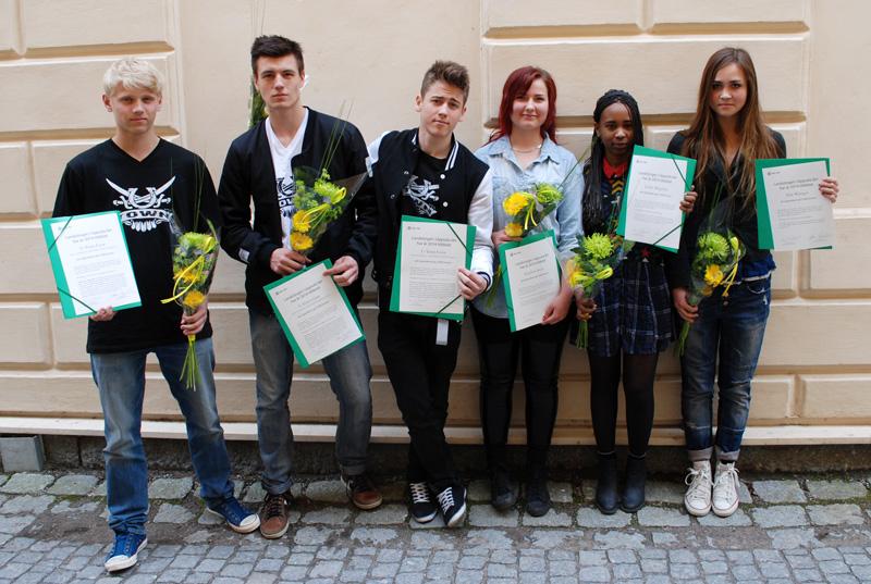 Årets ungdomsstipendiater. Foto: Pia-Marit Ekström