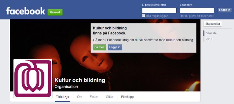 Följ Kultur och bildning på Facebook