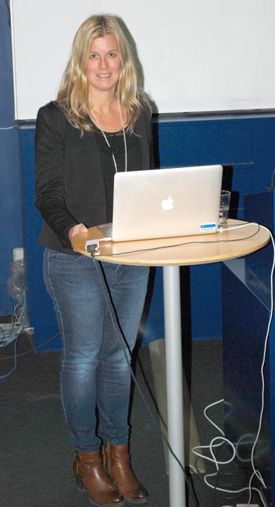 Annica Sjölander föreläser om sambandet kultur och hälsa