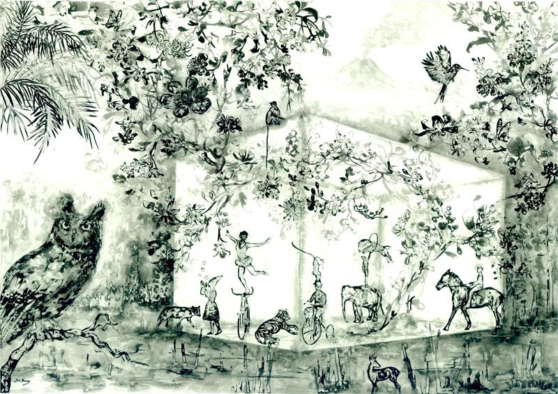 Konstverket The secret adventures av Jin Jiang