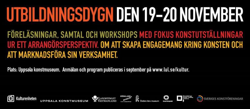 Utbildningsdygn inom konst den 19-20 november