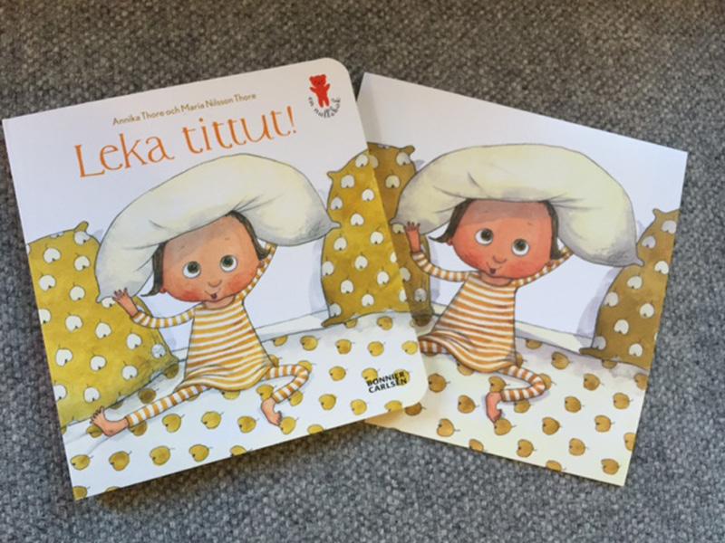 Ny bok till nyfödda i Uppsala län: Leka tittut av Annika Thore och Maria Nilsson Thore