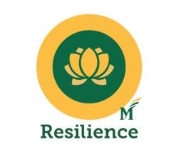 Mason Resilience Logo - yellow circle with lotus flower and Mason M