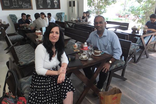 Sridhar und Martina