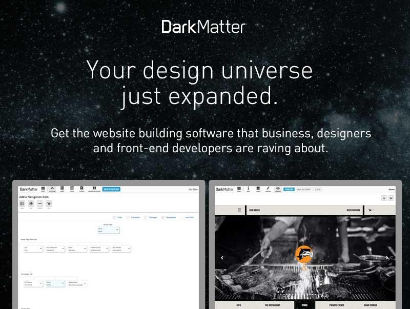 DarkMatter Platform - content first.