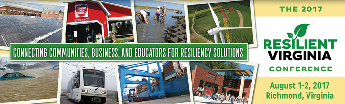 Save the Date for the 2017 Resilient Virginia Conference: August 1–2, 2017