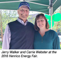 Jerry Walker and Carrie Webster at the 2016 Henrico Energy Fair.