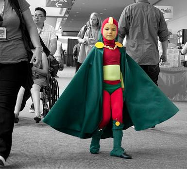 Мальчик на конференции «Комик кон». Фотография Натана Руперта