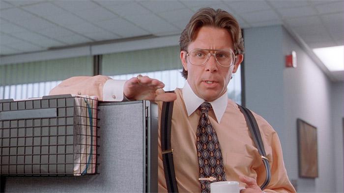 Кадр из фильма «Офисное пространство» (Office Space)