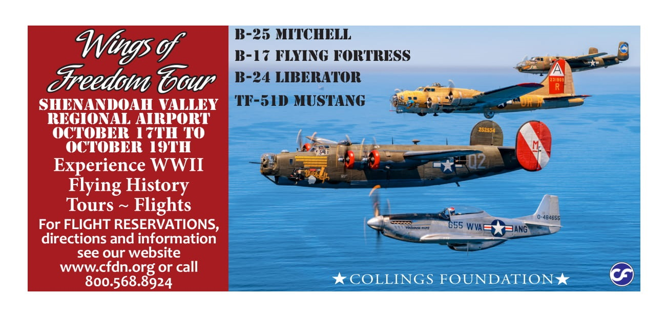 Wings of Freedom Tour featuring rare WWII aircraft.