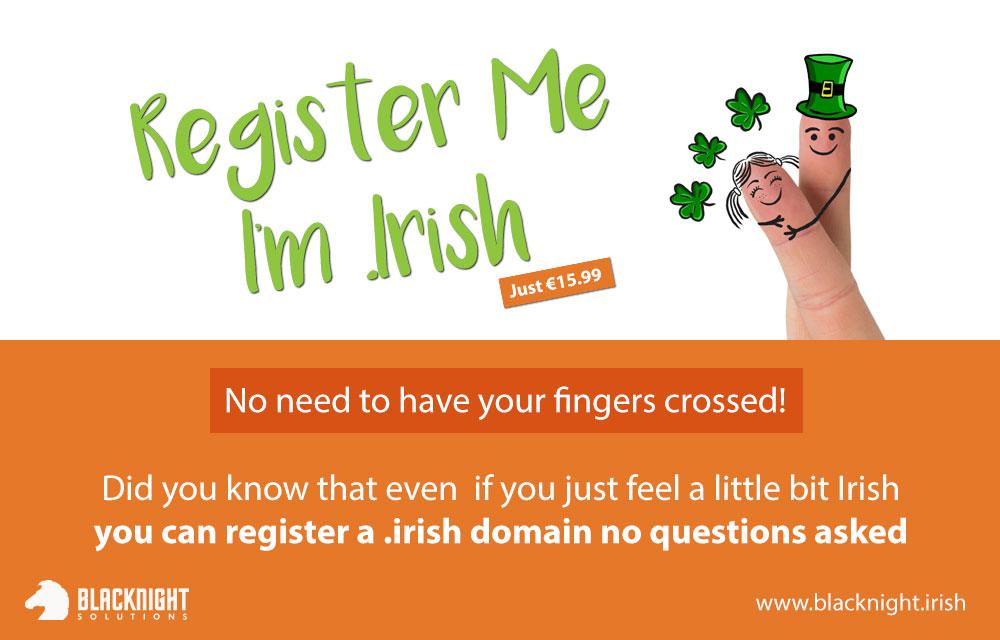 Register Me I'm .Irish €15.99 promo