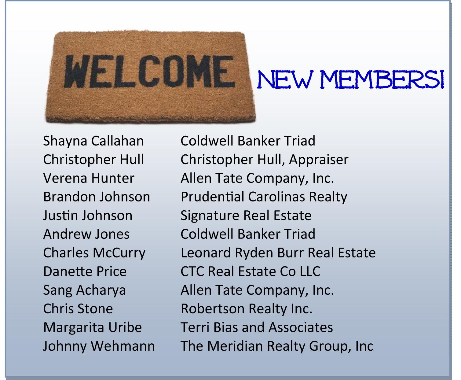 Welcome New WSRAR Members!