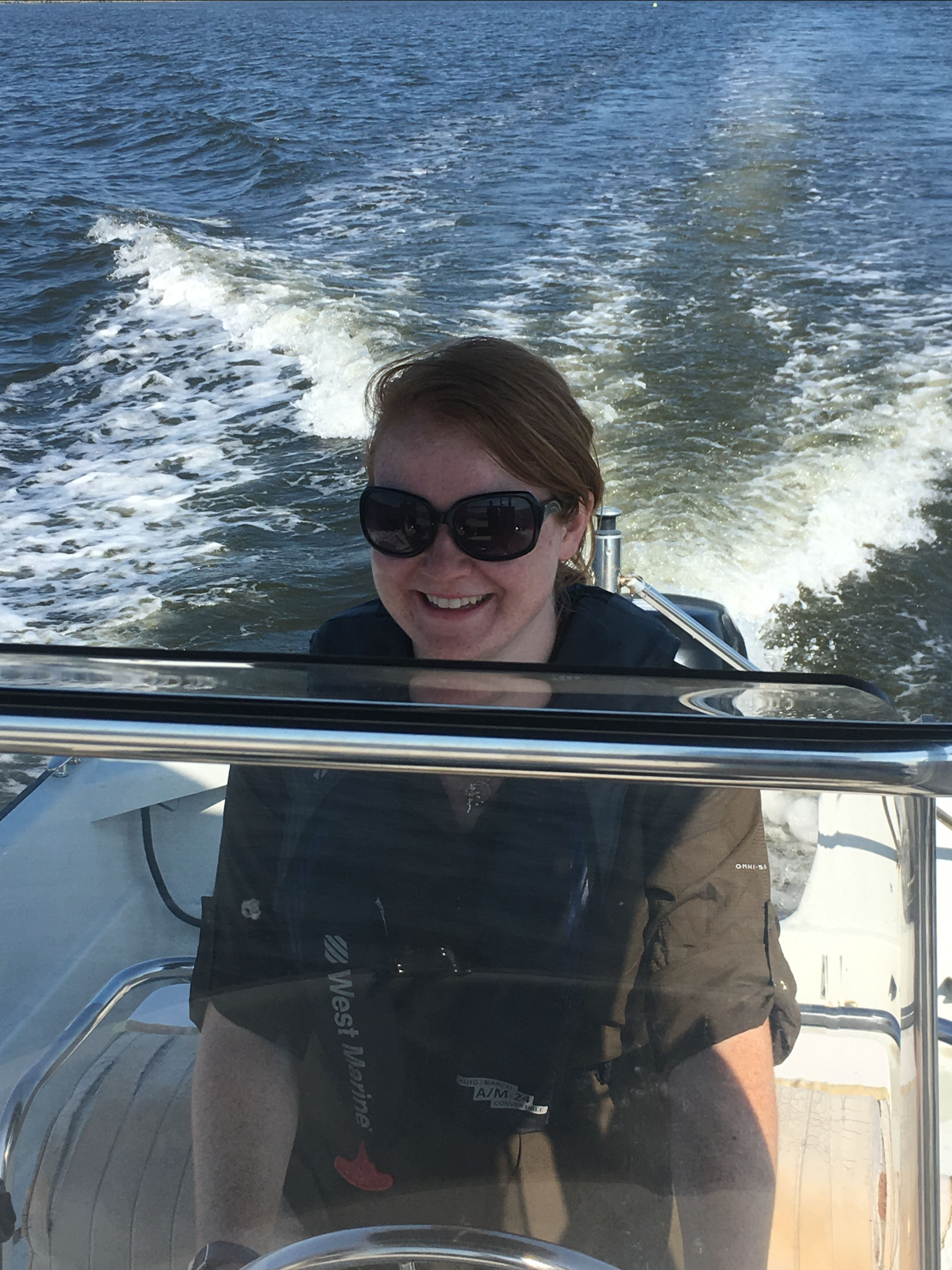 Izzie At The Helm