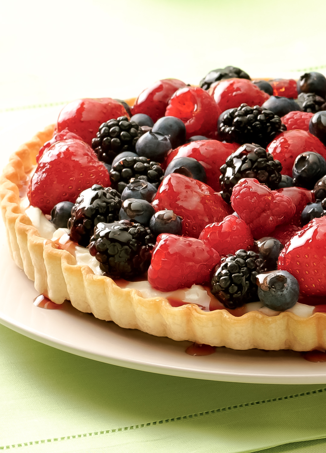 Fresh Berry Cream Tart