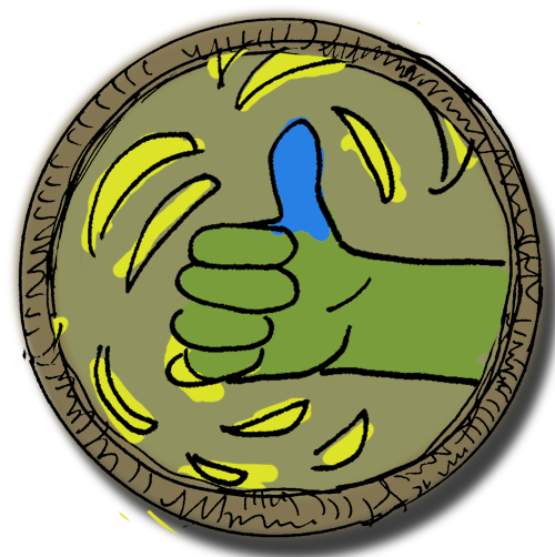 Blue Thumb Badge (Sep 4, 2013)