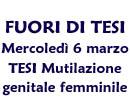 6 marzo Tesi Mutialzione genitale femminile