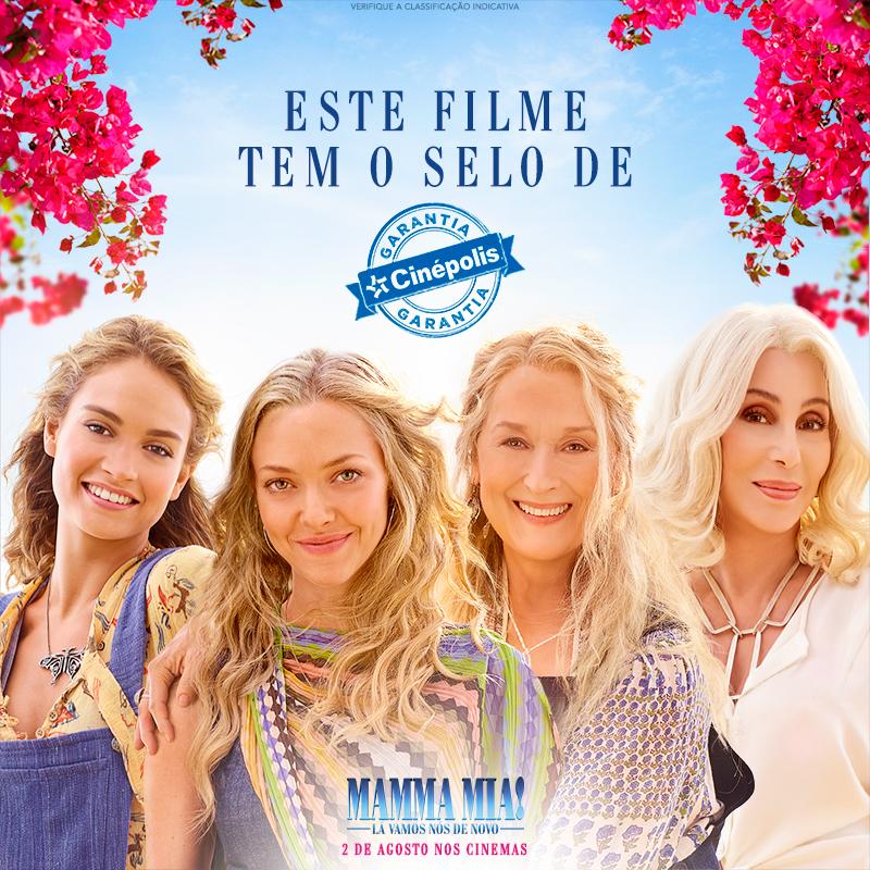 Mamma Mia: La Vamos Nós de Novo ganha selo Garantia Cinépolis