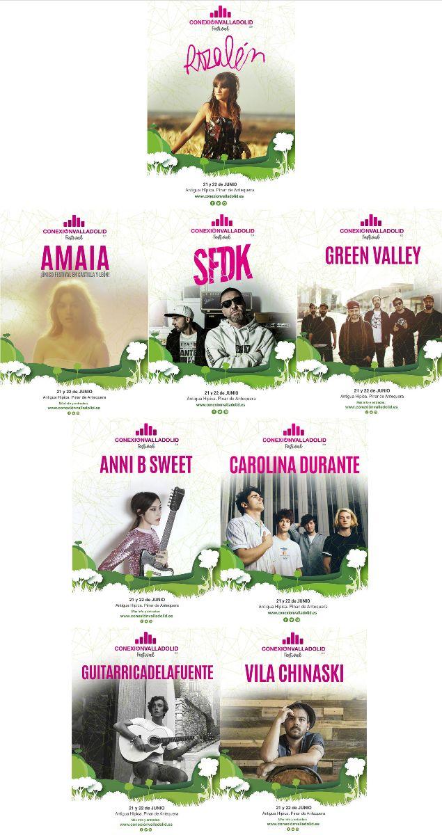 Artistas que actuarán el viernes 21 en Conexón Valladolid Festival 2018