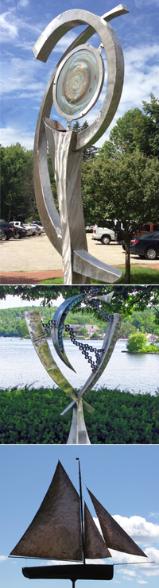 Three sculptures by Hayden